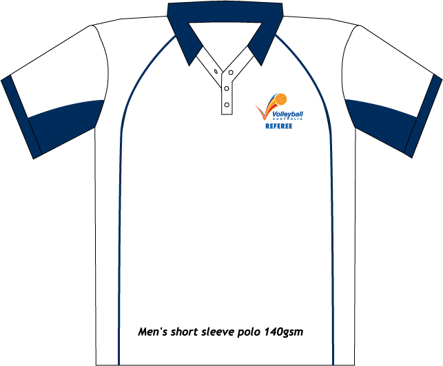 Volleyball Australia Short Sleeve Referee Polo - White